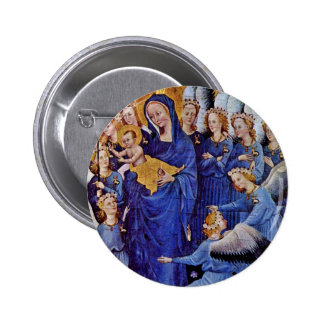 Our Lady Of Eleven Angels By Meister Des Wilton-Di 2 Inch Round Button