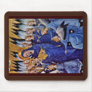 Our Lady Of Eleven Angels By Meister Des Wilton-Di Mouse Pad