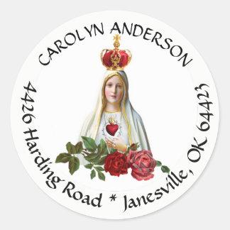 Our Lady of Fatima Address Label