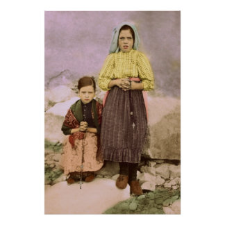 Our Lady of Fatima Children Jacinta & Lucia Poster