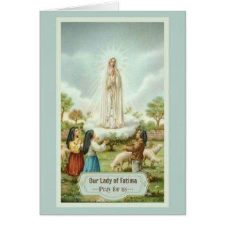 Our Lady of Fatima Children Pardon Prayer Card