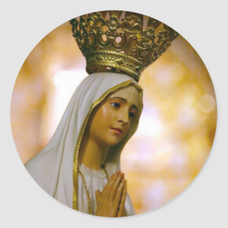 Our Lady of Fatima Classic Round Sticker