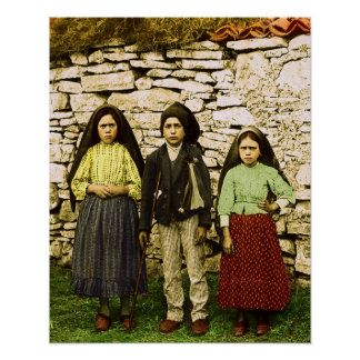 Our Lady of Fatima Virgin Mary Children Poster