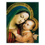 OUR LADY OF GOOD COUNSEL DEVOTIONAL IMAGE POSTER