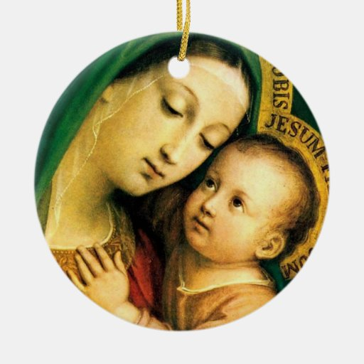 our lady of good counsel christmas tree ornament