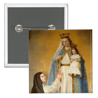 """Our Lady of Good Success Mary  Large 3"""" Button"""