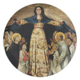Our Lady of Grace and the Masters of the Order of Melamine Plate