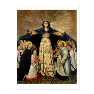 Our Lady of Grace and the Masters of the Order of Postcard