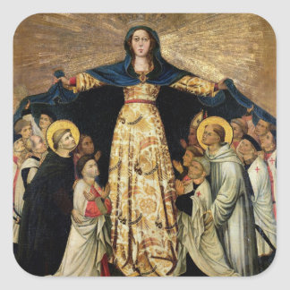Our Lady of Grace and the Masters of the Order of Square Sticker