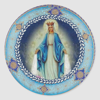 Our Lady of Grace Blessed Virgin Mary Classic Round Sticker
