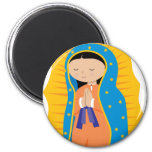 Our Lady of Guadalupe 2 Inch Round Magnet