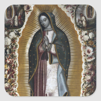 Our Lady of Guadalupe Antique Painting Square Sticker