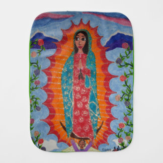 Our Lady of Guadalupe Baby Burp Cloth