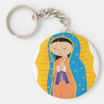 Our Lady of Guadalupe Basic Round Button Keychain