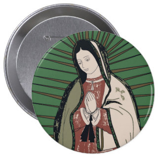 our lady of guadalupe button