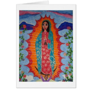 Our Lady of Guadalupe Card card