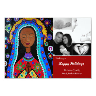 Our Lady of Guadalupe Christmas Card Custom Invitation