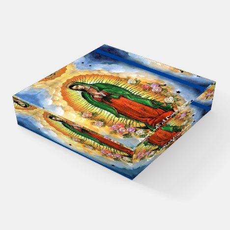 Our Lady of Guadalupe Gift Glass Paperweight