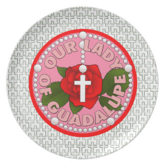 Our Lady of Guadalupe Melamine Plate