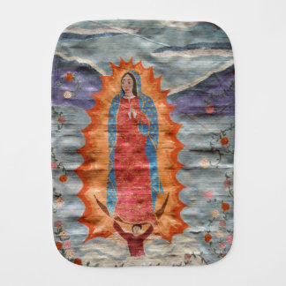 Our Lady of Guadalupe (Papyrus Version) Baby Burp Cloth