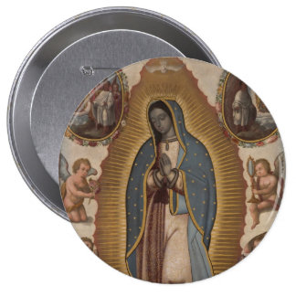 OUR LADY OF GUADALUPE PRAY FOR US PINBACK BUTTON