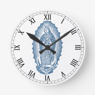 Our Lady of Guadalupe Round Clock