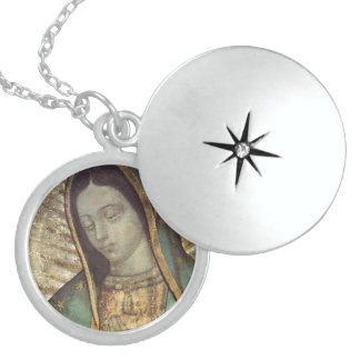 OUR LADY OF GUADALUPE ROUND LOCKET NECKLACE