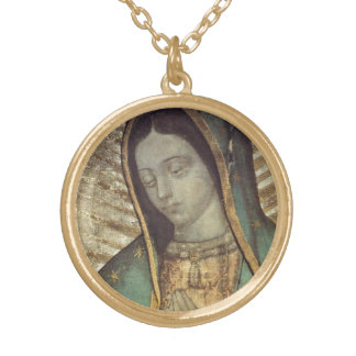 OUR LADY OF GUADALUPE ROUND PENDANT NECKLACE