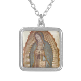 Our Lady of Guadalupe Square Pendant Necklace