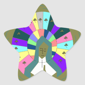 OUR LADY OF GUADALUPE STAR STICKER