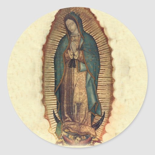 Our lady of guadalupe sticker zazzle for Our lady of guadalupe arts and crafts
