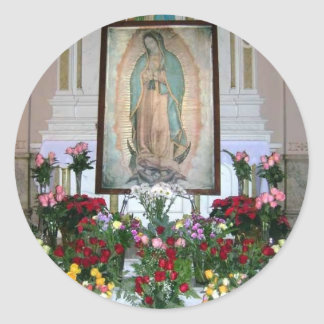 Our Lady of Guadalupe Sticker Round Stickers