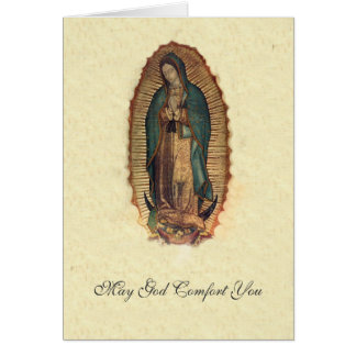 Our Lady of Guadalupe Sympathy Condolences Card