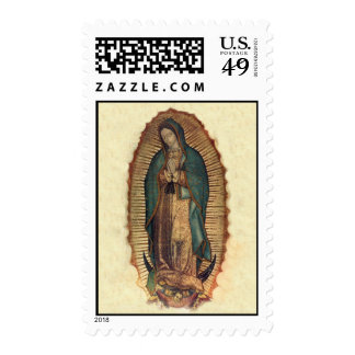 Our Lady of Guadalupe Vintage Original Stamp