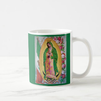 Our Lady of Guadalupe with Mexican Flag Coffe Mug
