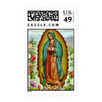 Our Lady of Guadalupe with Roses Postage Stamp Postage