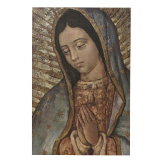 OUR LADY OF GUADALUPE WOOD WALL DECOR