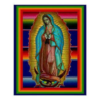 Our Lady of Guadalupe Zarape Print Picture Poster