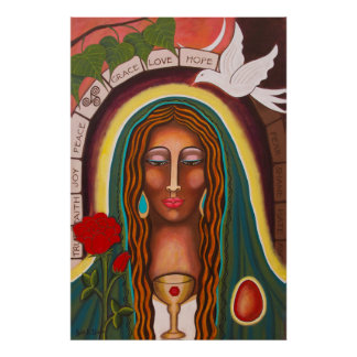 """Our Lady of Healing Hearts"" Poster"
