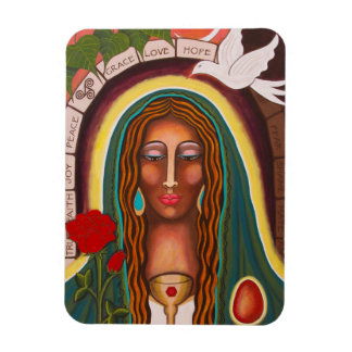 """""""Our Lady of Healing Hearts"""" Rectangular Photo Magnet"""