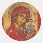Our Lady of Kazan Classic Round Sticker