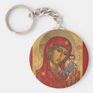 Our Lady of Kazan Basic Round Button Keychain
