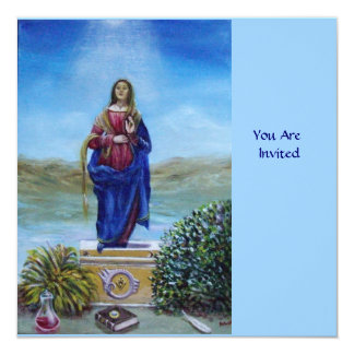 OUR LADY OF LIGHT blue red green brown Card