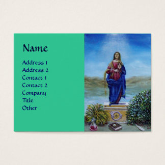 OUR LADY OF LIGHT blue red green Business Card