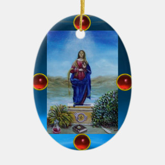 OUR LADY OF LIGHT CERAMIC ORNAMENT