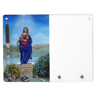 OUR LADY OF LIGHT DRY ERASE BOARD WITH KEYCHAIN HOLDER