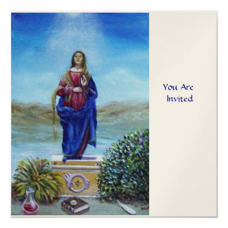 OUR LADY OF LIGHT, white champagne metallic Card