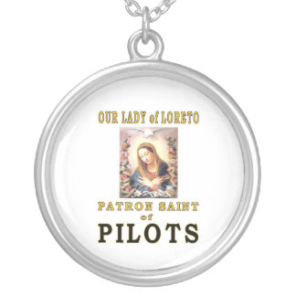 OUR LADY of LORETO Round Pendant Necklace