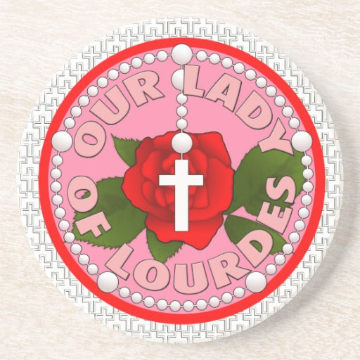 Our Lady of Lourdes Beverage Coasters