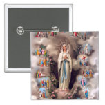 Our Lady of Lourdes Button